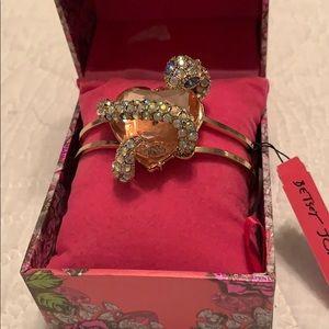Betsey Johnson Snake Heart Bracelet